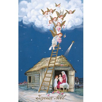 Postcard Christmas crib