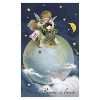 Postcard globe