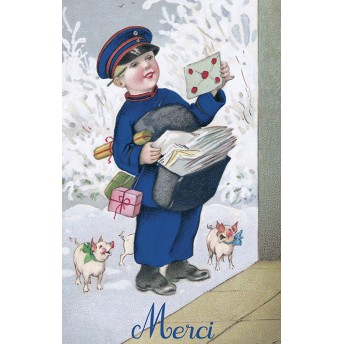 Postcard postman