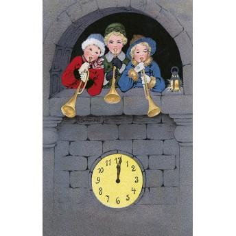 Postcard clock