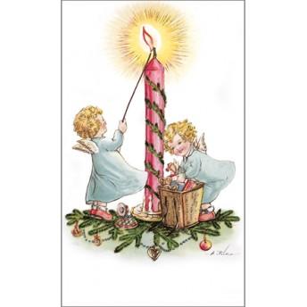 Postcard candle