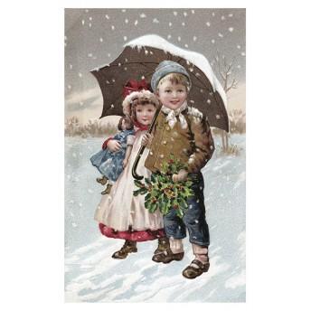 Postcard snow
