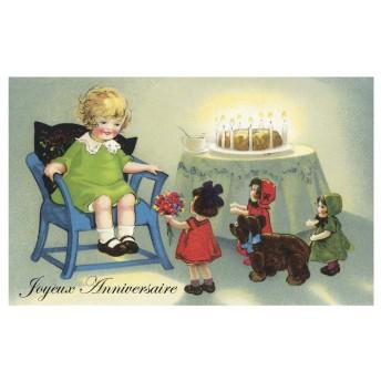 Postcard birthday cake