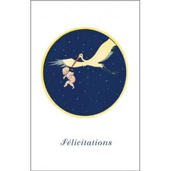 Carte postale la cigogne