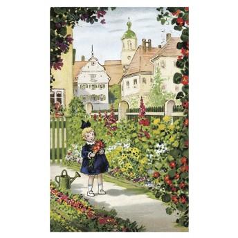 Postcard flower garden