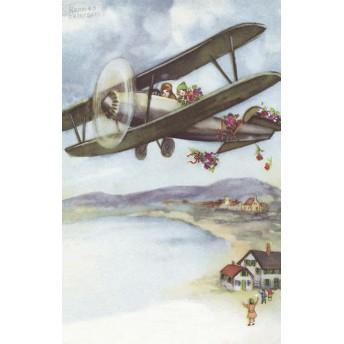 Postcard grey aircraft