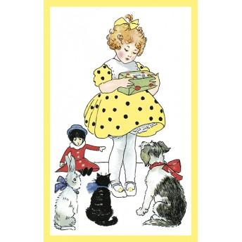 Postcard yellow dress