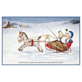 Postcard sled