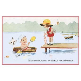 Postcard seductive sailor