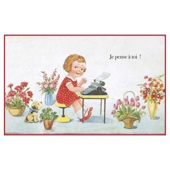 Postcard typist