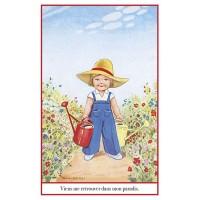 Carte postale jardinière