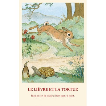 Postcard Fable: the Bunny and the Turtle