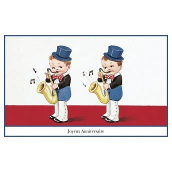 Postcard saxophone
