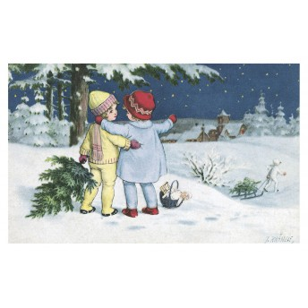 Postcard winter night