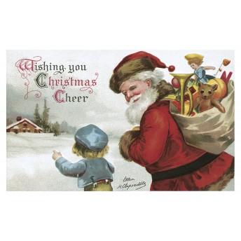 Postcard Santa's hood