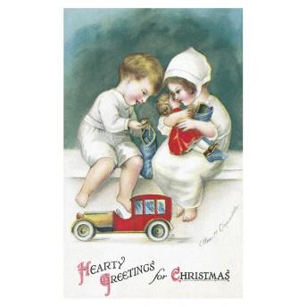 Postcard christmas toys
