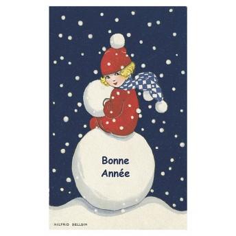 Postcard snowball
