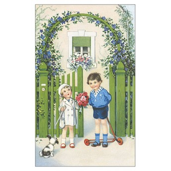 Postcard flowered porch