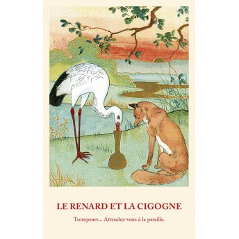 Postcard Fable: The Fox and the Stork