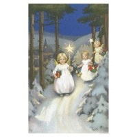 Postcard Christmas procession