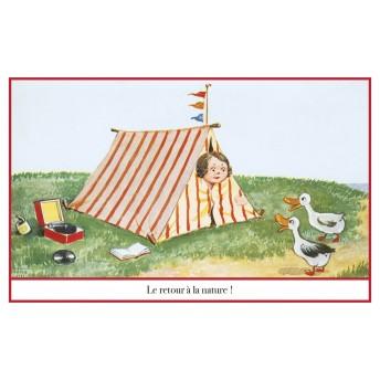 Postcard camping