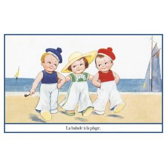 Postcard the walk on the beach