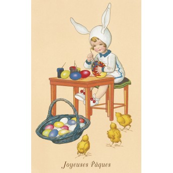 Postcard Easter eggs