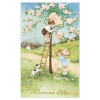 Postcard flowering tree