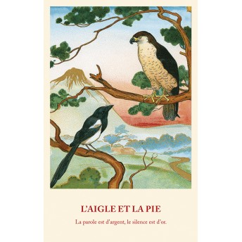 Postcard Fable: The Eagle and the Magpie