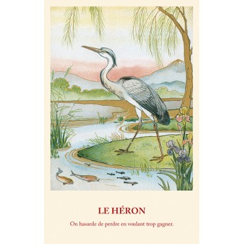 Postcard Fable: The Heron