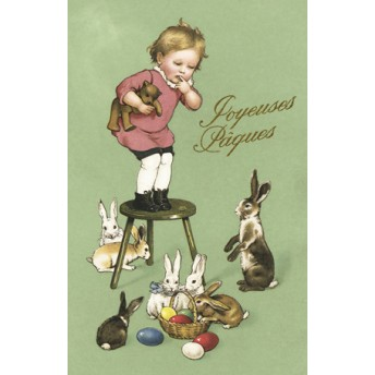 Postcard Easter bunnies