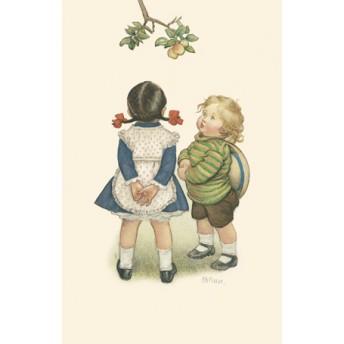 Postcard apple tree