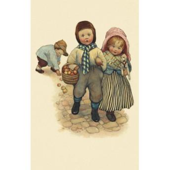 Postcard basket of apples