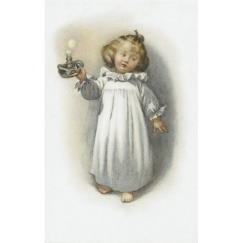 Postcard candlestick
