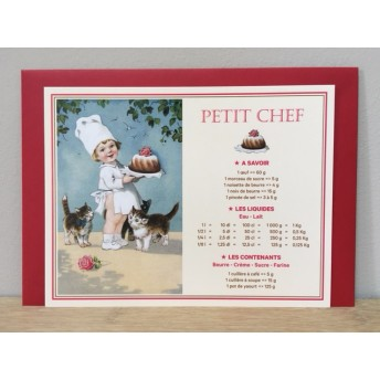 Large card Little chef: baker