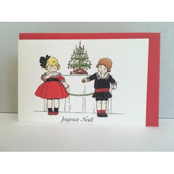 Little double card Christmas tree