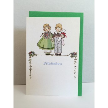 Little double card wedding