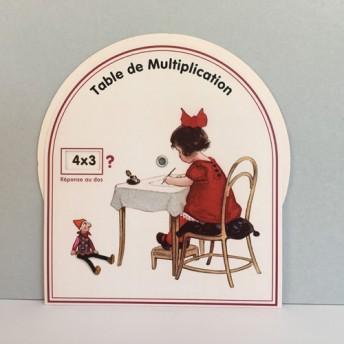 Disque Multiplication Réponse au dos