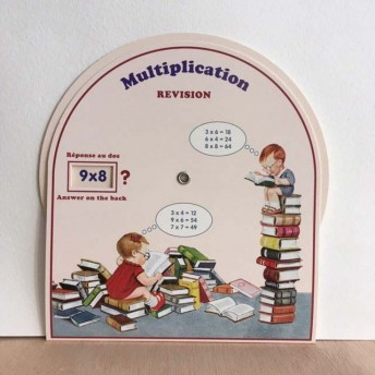 Disc multiplication books - answer on the back