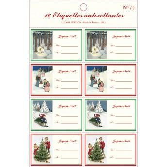 Etiquettes autocollantes Noël