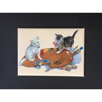 Magnet cat painting