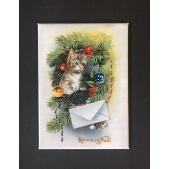 Magnet cat christmas