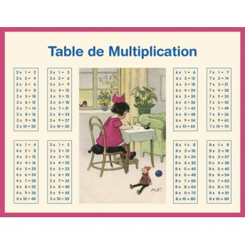 Board multiplication and addition girl